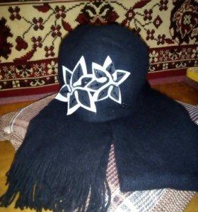 Гарнитур шапка+шарф