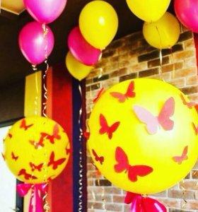 Оформление Воздушными шарами, Гелиевые шары.