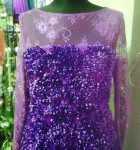 Платье вечернее,фиолетовое и ярко-синее