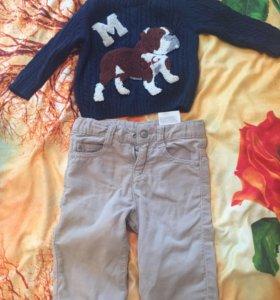 Детские вещи:свитер D&G,брючки Armani велюр