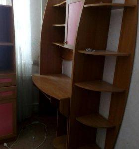 Набор мебели для девочки (стол школьный, пенал, шк