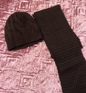 Комплект шапка и шарф. Италия