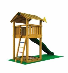 Детские городки Jungle Cottage+SwingModule Xtra+Br