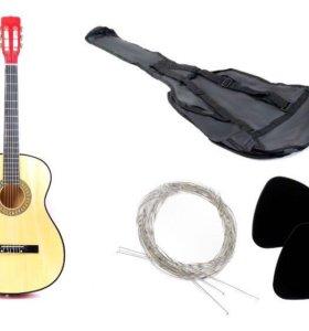 Гитара новая классическая акустическая 4/4 с чехло