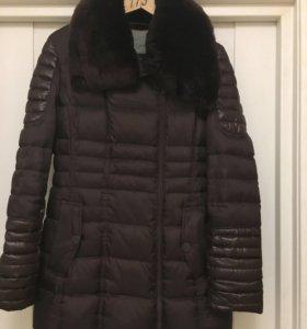 Зимний пуховик -пальто  женское