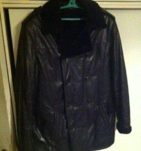 Кожаная куртка с мехом ягнёнка