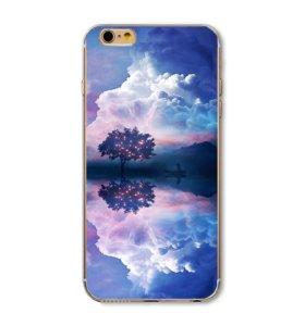 Чехлы силиконовые iPhone 5, 6 Небо