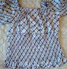 Блузка атласная