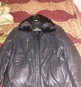 Продам кожанную мужскую куртку