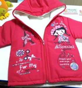 Куртка для девочки флис