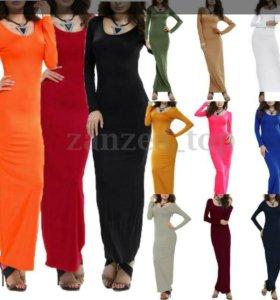 Длинное платье стрейч