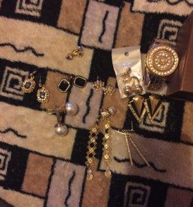 Сережки,браслеты,чокеры
