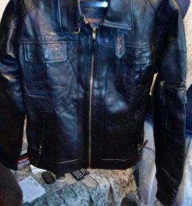 Кожанная куртка новая не ношенная (индия)
