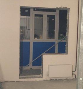 Окно+дверь