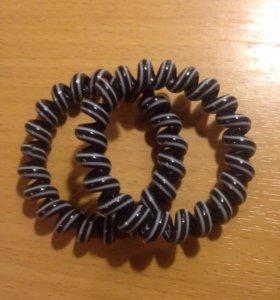Резинки для волос-пружинки (пара)