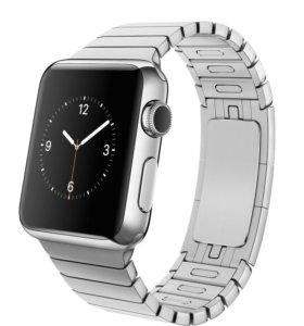 Часы Apple Watch 38 мм блочный браслет серебро