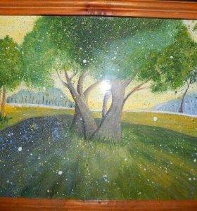 Картина Гуашью
