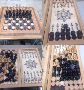 3в1 Нарды, шашки, шахматы