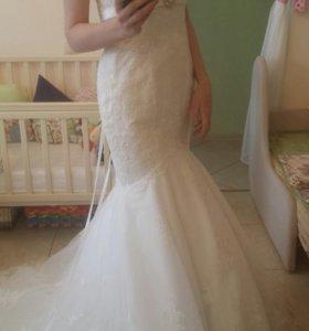 """Свадебное платье """"Русалка"""" и фата Norman"""