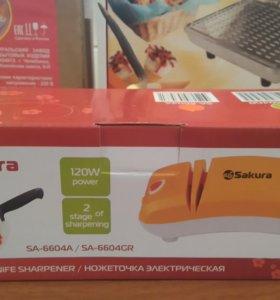 Ножеточка электрическая,  новая