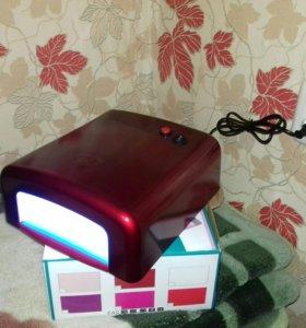 Красная лампа для гель лака