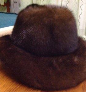 Шляпка норковая р 55-56