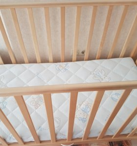 Кроватка-маятник детская+матрас