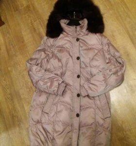 Куртка пуховик 56-58р