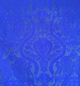 Синие платье Жаккард