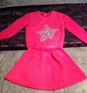 Комплект юбка, свитер