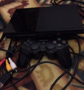Playstation 2 + диски (8 штук)