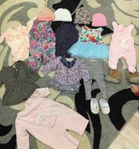 Вещи для девочки до годика