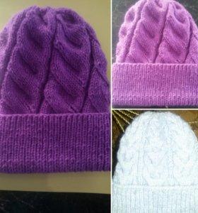 Новые вязаные шапки ручной работы