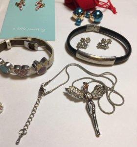 Украшения,серёжки,браслеты,броши,кулоны