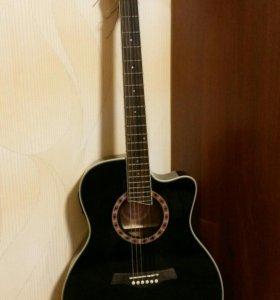 Электроакустическая гитара Jay Turser JTA444CETTBK