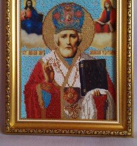 Икона Николай Чудотворец, Казанская, Пр. Бог. Всец
