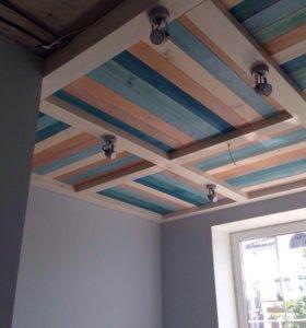 Деревянные потолки любой сложности.