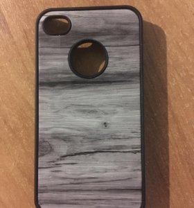 Чехол  IPhone 4-4s под дерево