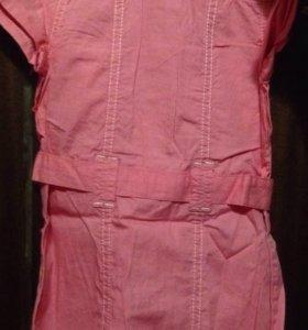 Платье туника новая хлопок на 2-3 года