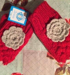 Новые перчатки-митенки