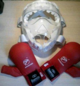 """Защитная маска""""Khan"""" карате и накладки"""