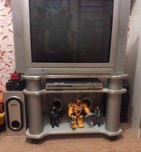 "телевизор 29"" +подставка, сабвуфер, колонки , ДВД."