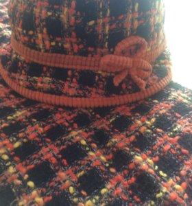 Комплект весенний шляпка и шарф