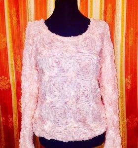 Блуза новая цвет мята и розовый