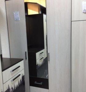 Шкаф 3х дверный с зеркалом
