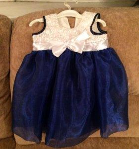 Нарядное платье на 5-9 месяцев