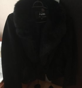 Замшевая куртка с натур.мехом