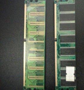 Оперативная память DDR 512+еще одна Toshiba