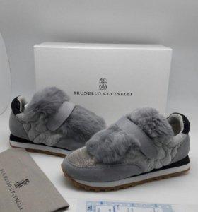 Кроссовки Brunello Cucinelli чёрные и серые