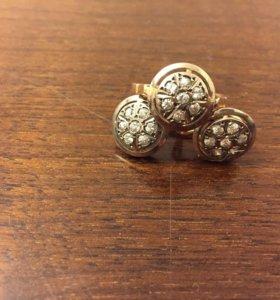 Комплект золото 585 с фионитами